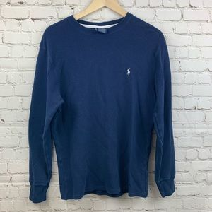 Men's Polo Ralph Lauren Thermal Shirt Medium Navy